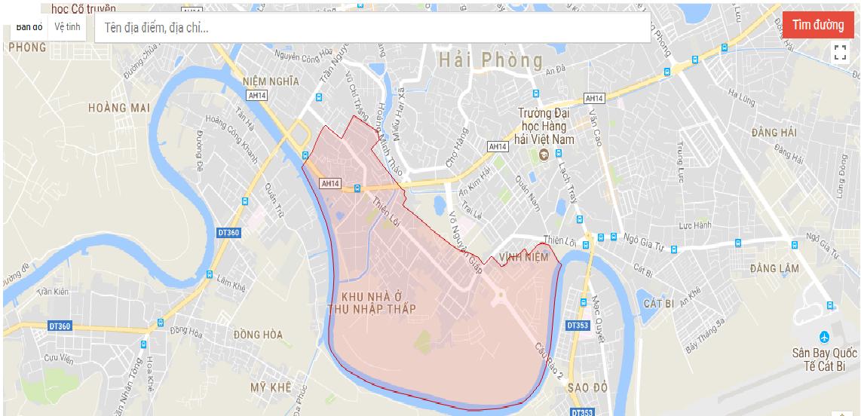 Vị trí địa lí quy hoạch VinhomesCầu Rào