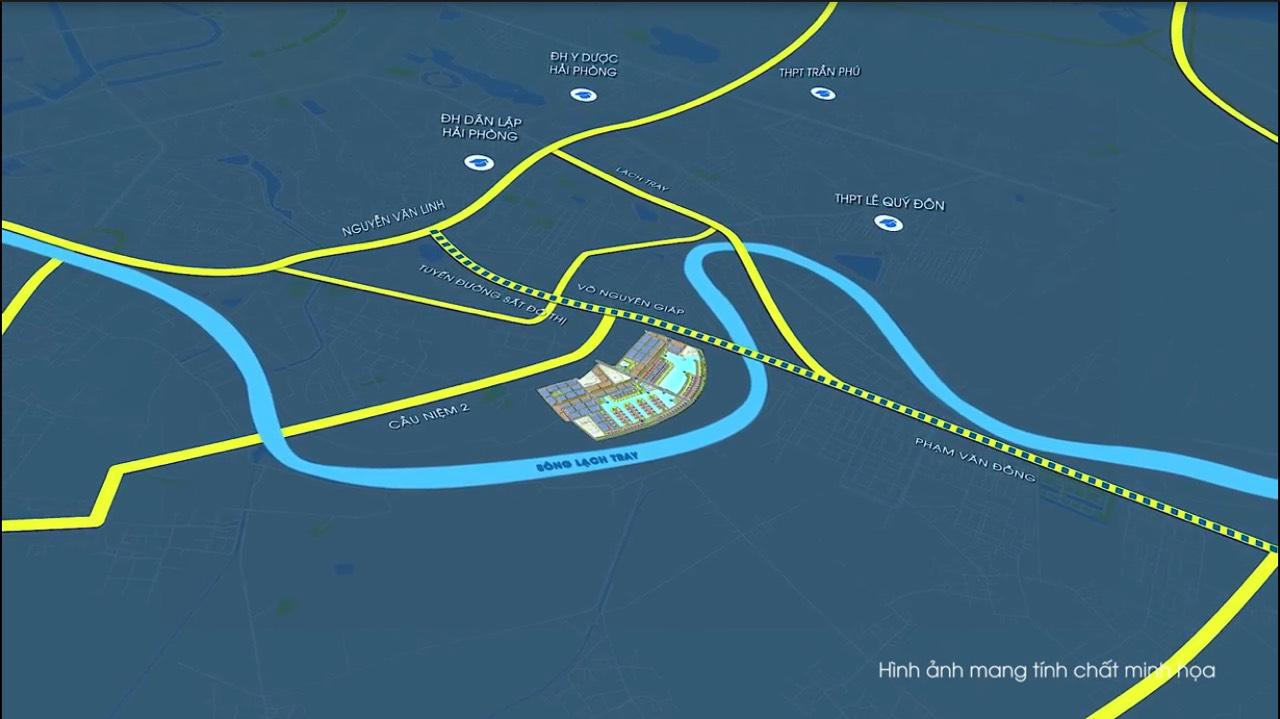 vị trí dự án vinhomes marina cầu rào 2