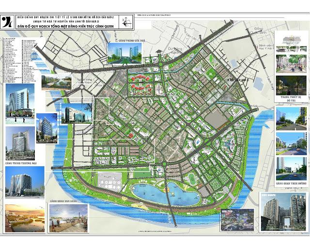 Quy hoạch vinhomes cầu rào - chi tiết 1/500 và Thiết kế đô thị khu đô thị mới Hồ Sen – Cầu Rào a