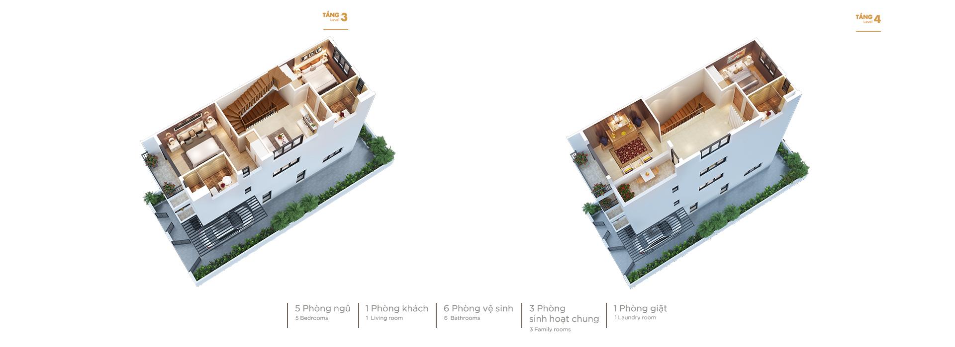 Mẫu thiết kế căn biệt thự song lập tại Vinhomes Cầu rào Hải Phòng ( dự kiến )