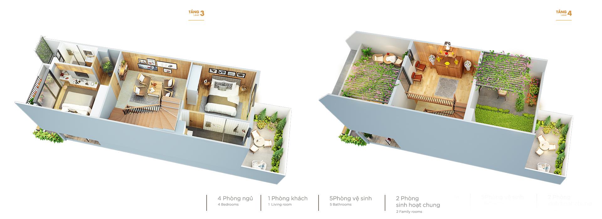 Mẫu thiết kế căn liền kề Vinhomes Cầu rào Hải Phòng
