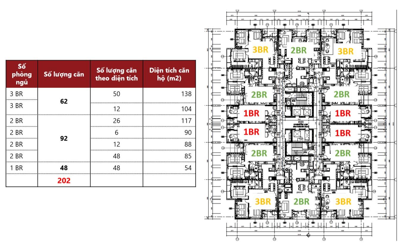 Bản đồ thiết kế quy hoạch căn hộ chung cư Hilton Hải Phòng