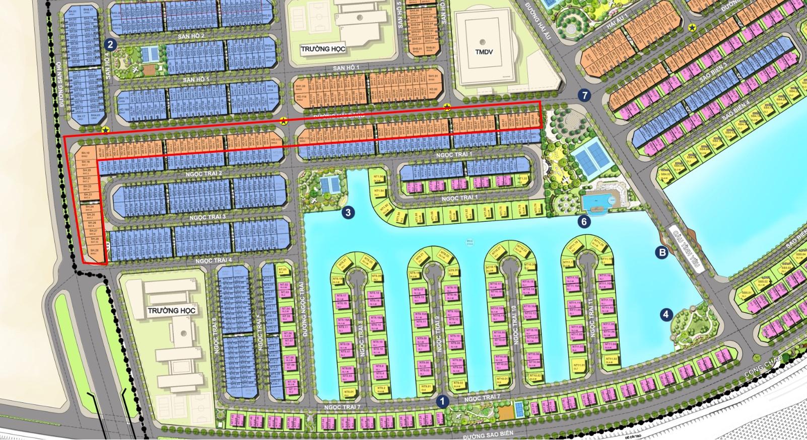 Mặt bằng phân khu ngọc trai dự án Vinhomes Cầu Rào - điểm lưu ý từcác nhà đầu tư