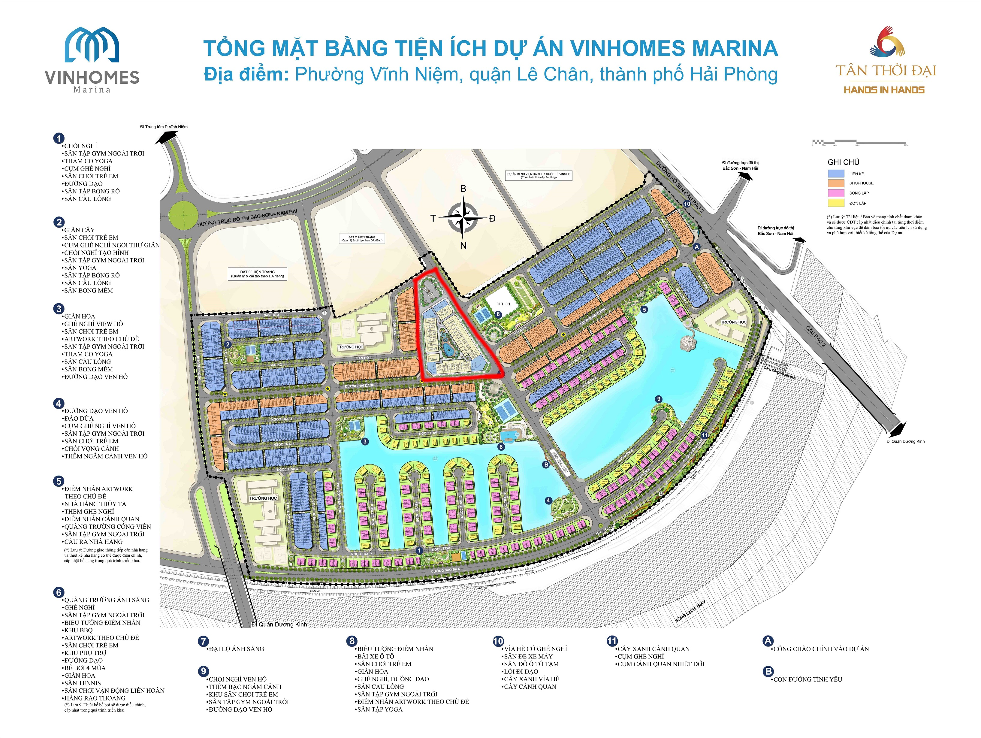 Thông tin quy hoạch của Vinhomes Marina Cầu Rào