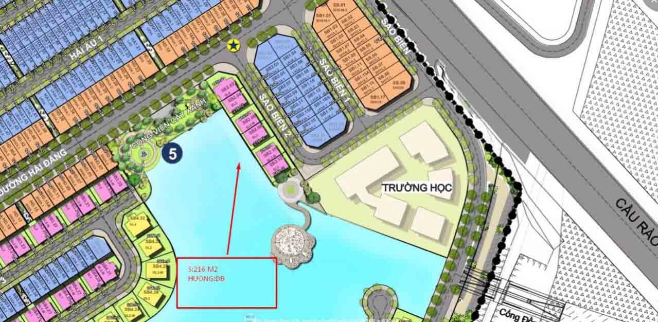 Căn song lập ngại giao vinhomes cầu rào Vip. 1 trong 6 căn song lập đẹp nhất dự án Vinhomes Marina